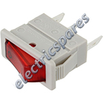 Red Neon Rocker Switch (Single Pole)